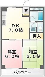 メゾンサヨネ[309号室]の間取り