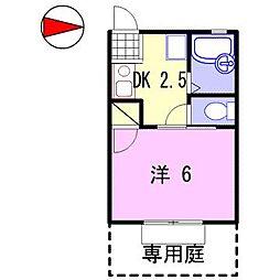 メゾン・ド・ブランシェ[1階]の間取り