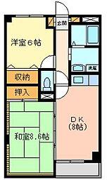 アビタシオン武蔵野[4階]の間取り