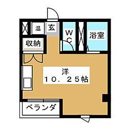 ヌーベルホーム渡辺[3階]の間取り