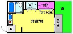芦屋10[1階]の間取り