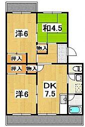 宮ノ脇マンション[206号室号室]の間取り