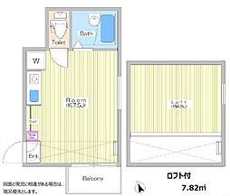 Quenel新宿[201号室号室]の間取り