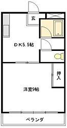 コーポカトウI[2階]の間取り