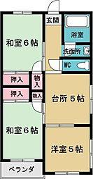 めじろ台南マンション[1階]の間取り