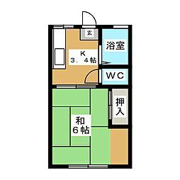 メゾン青葉[1階]の間取り