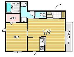 ブランハイム[2階]の間取り