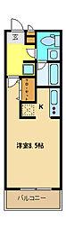 埼玉県さいたま市桜区大字上大久保の賃貸アパートの間取り