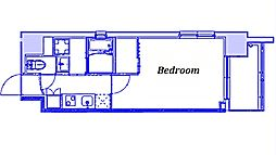 JR京浜東北・根岸線 大宮駅 徒歩9分の賃貸マンション 6階1Kの間取り