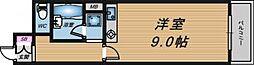 大阪府大阪市北区曾根崎新地2丁目の賃貸マンションの間取り