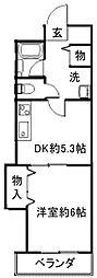 大阪府堺市北区大豆塚町2丁の賃貸アパートの間取り