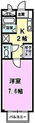 アンフィニ鈴木[205号室]の間取り