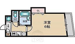 ソレアード江坂[5階]の間取り
