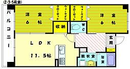 ホクリマンション[6階]の間取り