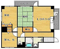 グランヒル西口[2階]の間取り