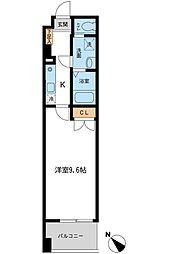 フィオーレ月島[0303号室]の間取り