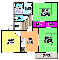 クレール美原 B棟[2階]の間取り