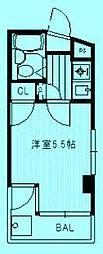 カミキマンション[1階]の間取り