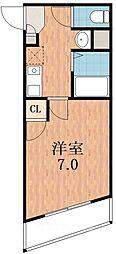 アヴェニール寺田町[2階]の間取り