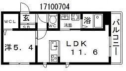 仮)シャーメゾン天下茶屋東[3階]の間取り