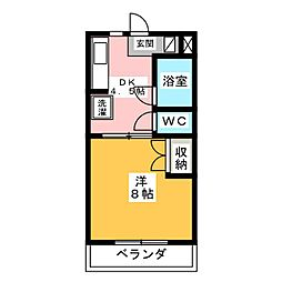 マンションエクシード[1階]の間取り