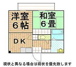 兵庫県神戸市長田区池田上町の賃貸アパートの間取り