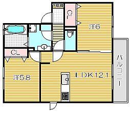 ゴラッソ[2階]の間取り