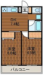 サンハウス相南2[1階]の間取り