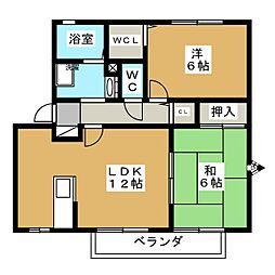 セジュールロイドA[2階]の間取り