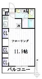 リブリ・パークリビング曉[102号室]の間取り