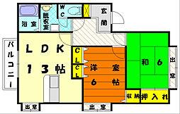 NK・peaceful[1階]の間取り