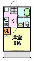 フォレストツインハウスII[B104号室]の間取り