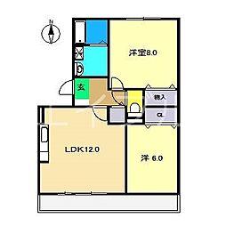 ラ・クレール[3階]の間取り