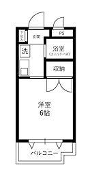 ハイグレードマンションサニー[20B号室]の間取り