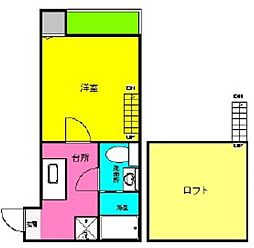 オークヴィラ黒川[105号室]の間取り