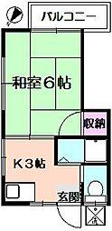 高田コーポ[2階]の間取り