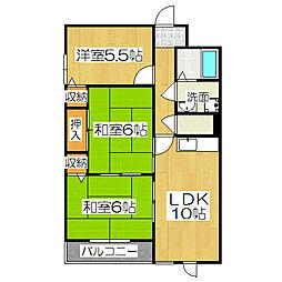 エスパシオ石田[1階]の間取り