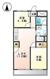 メゾン和幸[1階]の間取り