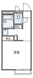 東京都調布市深大寺東町3丁目の賃貸アパートの間取り