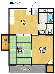 セイダイマンション[3階]の間取り