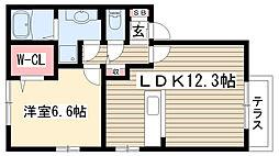 愛知県名古屋市守山区瀬古東3丁目の賃貸アパートの間取り