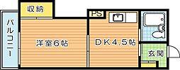 プレアール千代ケ崎[5階]の間取り