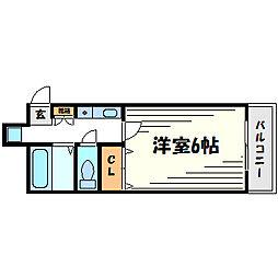 ピルテ甲子園[3階]の間取り