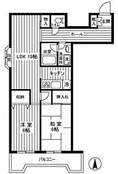 クレール池袋[6階]の間取り