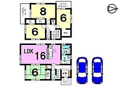 全居室6帖以上。収納スペースもたっぷり確保しました。お気軽にお問い合わせください。
