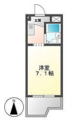 ドール堀田I[4階]の間取り