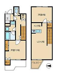 [テラスハウス] 神奈川県茅ヶ崎市東海岸南1丁目 の賃貸【/】の間取り