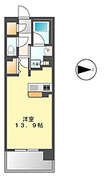 ロイヤルパークスERささしまEAST[3階]の間取り