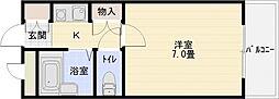メゾン関屋[4階]の間取り