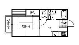 アーバンハイツ白島C棟[2階]の間取り